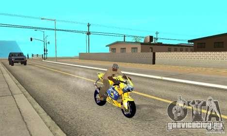 Honda Valentino Rossi Bf400 для GTA San Andreas вид справа