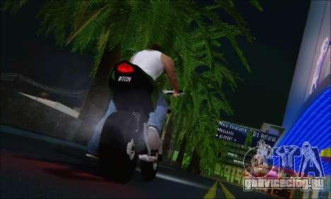 Honda CB600F Hornet 2012 для GTA San Andreas вид сзади слева