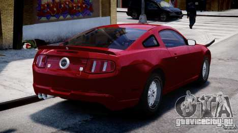 Ford Shelby GT500 2010 для GTA 4 вид сзади слева