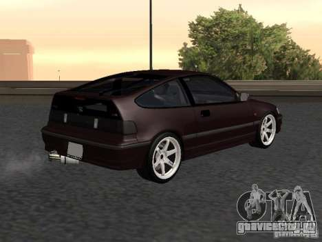 Honda Civic CRX JDM для GTA San Andreas вид сзади слева