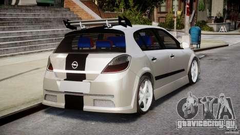 Opel Astra 1.9 TDI 2007 для GTA 4 вид сверху