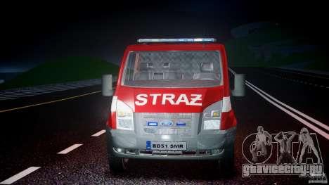 Ford Transit Polish Firetruck [ELS] для GTA 4 вид сверху