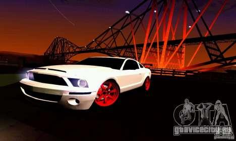 Shelby GT500 KR для GTA San Andreas двигатель