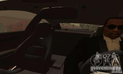 Mercedes-Benz C63 AMG для GTA San Andreas вид изнутри