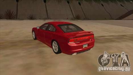 Dodge Charger RT 2011 V1.0 для GTA San Andreas вид сзади слева