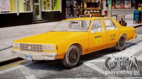 Chevrolet Impala Taxi 1983 [Final] для GTA 4 вид сбоку