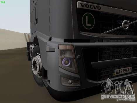 Volvo FH13 Globetrotter для GTA San Andreas вид снизу