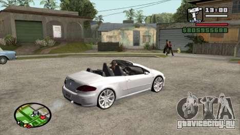 Peugeot 307 BMS Edition для GTA San Andreas вид справа