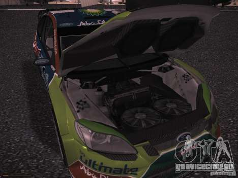 Ford Focus RS WRC 2010 для GTA San Andreas вид снизу