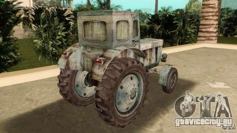 Трактор Т-40 для GTA Vice City вид сзади слева