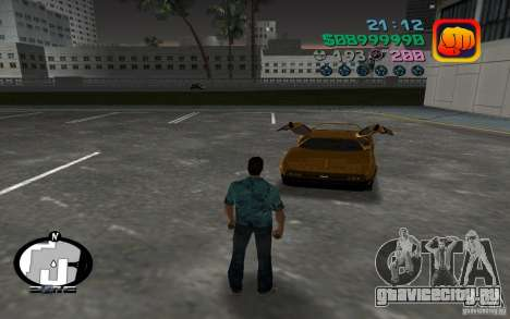 Delorean DMC-13 для GTA Vice City вид слева