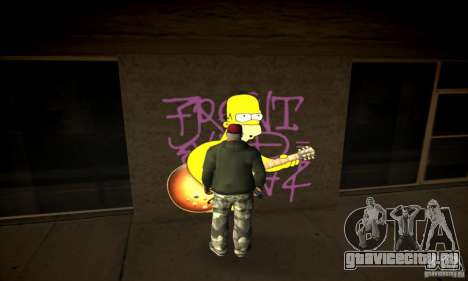 Simpson Graffiti Pack v2 для GTA San Andreas третий скриншот