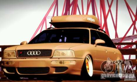 Audi RS2 Avant Thug для GTA San Andreas вид изнутри