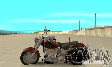 Harley Davidson FLSTF (Fat Boy) v2.0 Skin 2 для GTA San Andreas вид слева