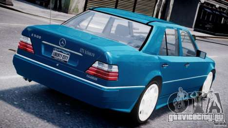 Mercedes-Benz W124 E500 1995 для GTA 4 вид сзади слева