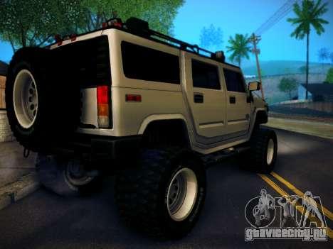 Hummer H2 Monster 4x4 для GTA San Andreas вид слева
