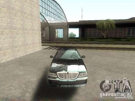 Lincoln Town car sedan для GTA San Andreas вид сзади