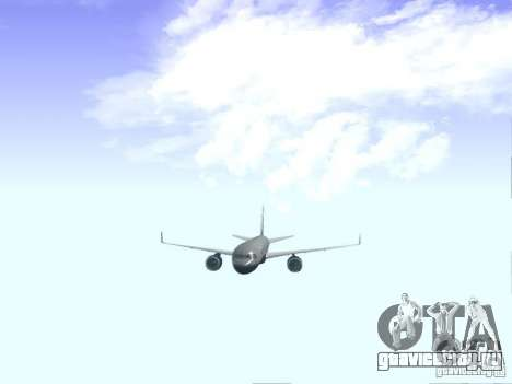 Boeing 757-200 United Airlines для GTA San Andreas вид изнутри