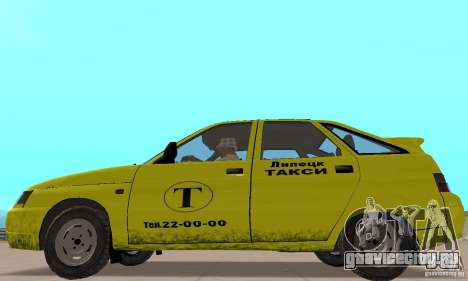 ВАЗ 21124 ТАКСИ для GTA San Andreas вид сзади слева