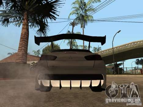 Mitsubishi Lancer Evolution X Drift Spec для GTA San Andreas вид сзади слева