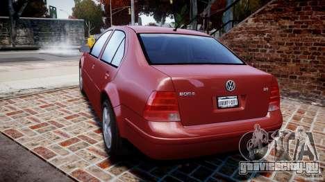 Volkswagen Bora для GTA 4 вид сзади слева