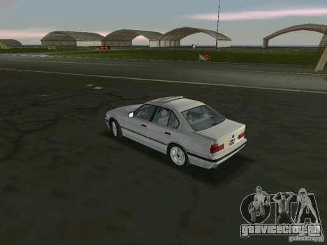 BMW 540i (E34) 1992 для GTA Vice City вид сзади слева