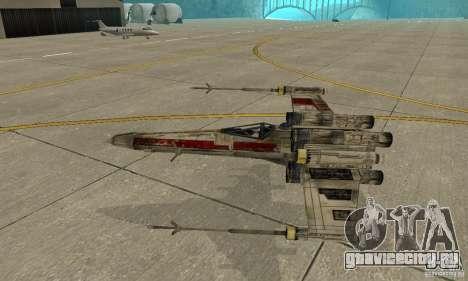 X-WING v1 из Star Wars для GTA San Andreas вид сбоку