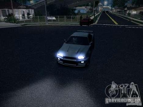Nissan Skyline Z-Tune для GTA San Andreas вид сзади
