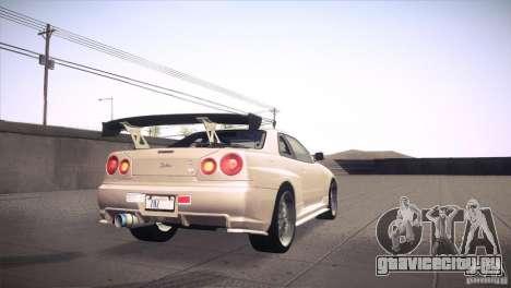 Nissan Skyline R34 для GTA San Andreas салон