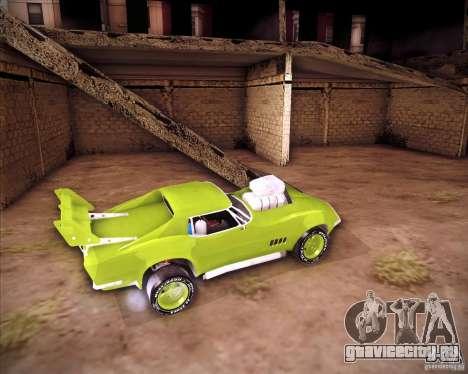Chevrolet Corvette drag для GTA San Andreas вид справа