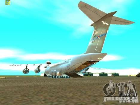 Lockheed C-5M Galaxy для GTA San Andreas вид слева