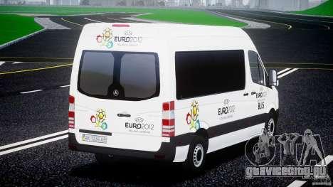 Mercedes-Benz Sprinter Euro 2012 для GTA 4 вид сзади слева