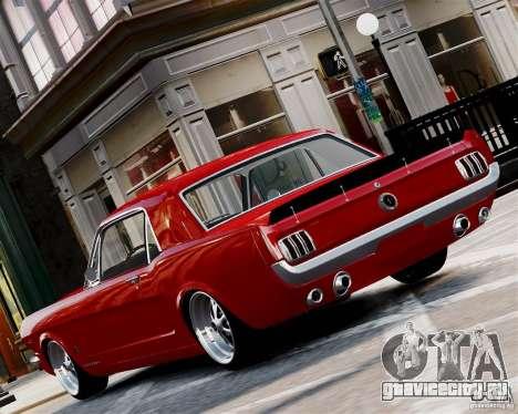 Ford Mustang GT MkI 1965 для GTA 4 вид сзади слева