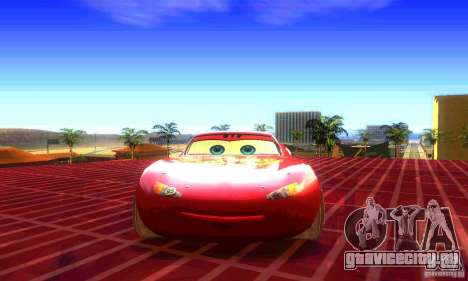 MCQUEEN from Cars для GTA San Andreas вид справа