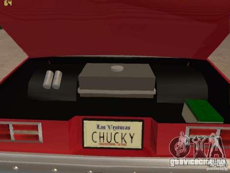 Chevrolet Nova Chucky для GTA San Andreas вид изнутри