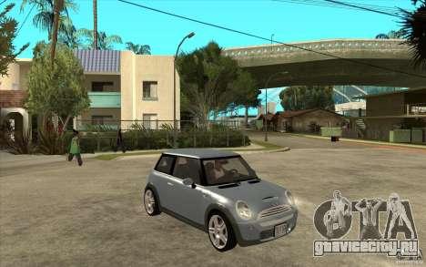 Mini Cooper - Stock для GTA San Andreas вид сзади