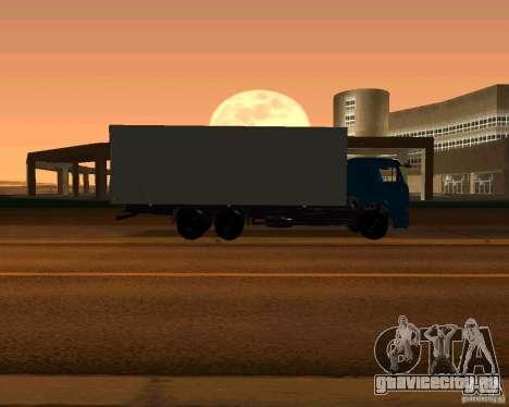 КамАЗ 65117 для GTA San Andreas вид изнутри