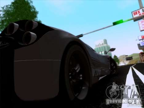 Pagani Huayra 2011 для GTA San Andreas вид изнутри