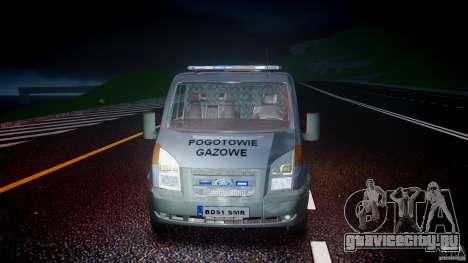 Ford Transit Usluga polski gazu [ELS] для GTA 4 вид сверху