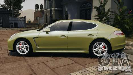 Porsche Panamera Turbo 2010 для GTA 4 вид слева