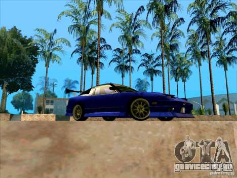 Nissan 240SX Drift Team для GTA San Andreas вид сзади