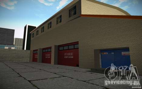HD пожарная часть для GTA San Andreas четвёртый скриншот