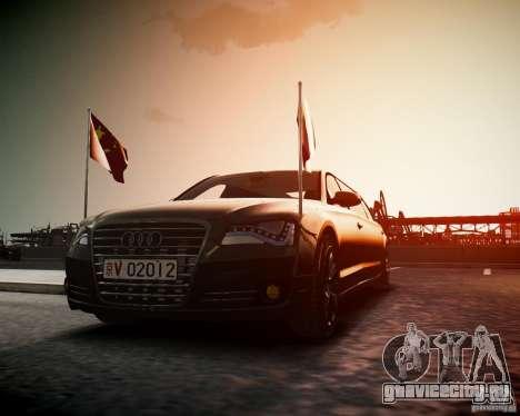 Audi A8 Limo для GTA 4 вид справа