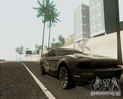 Ford Mustang Boss 302 для GTA San Andreas вид сзади слева