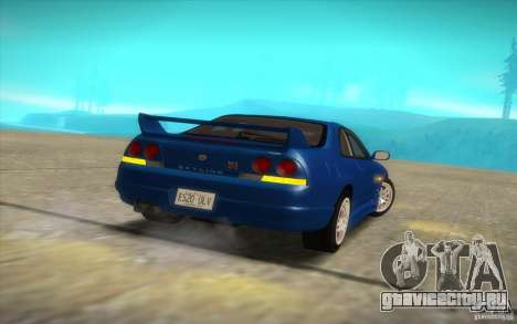 Nissan Skyline R33 GT-R V-Spec для GTA San Andreas вид сзади