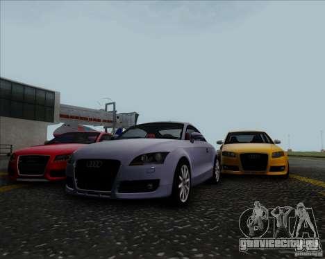 Audi TT для GTA San Andreas вид изнутри