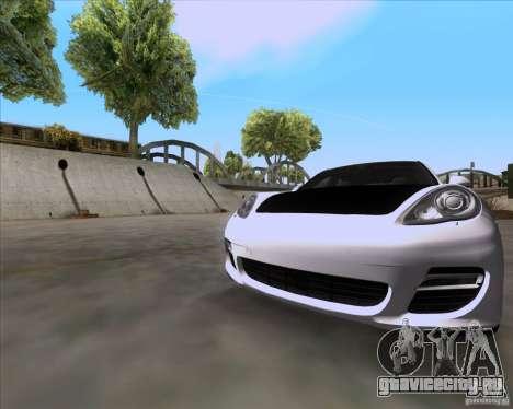 Porsche Panamera 970 Hamann для GTA San Andreas вид сзади слева