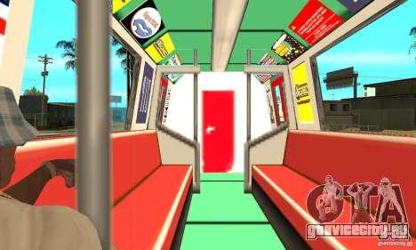 Liberty City Train Red Metro для GTA San Andreas вид справа