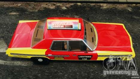 Dodge Monaco 1974 Taxi v1.0 для GTA 4 вид справа