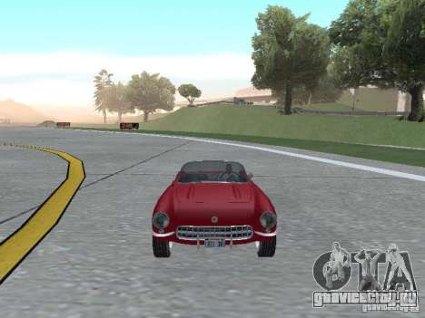 Chevrolet Corvette C1 для GTA San Andreas вид сзади